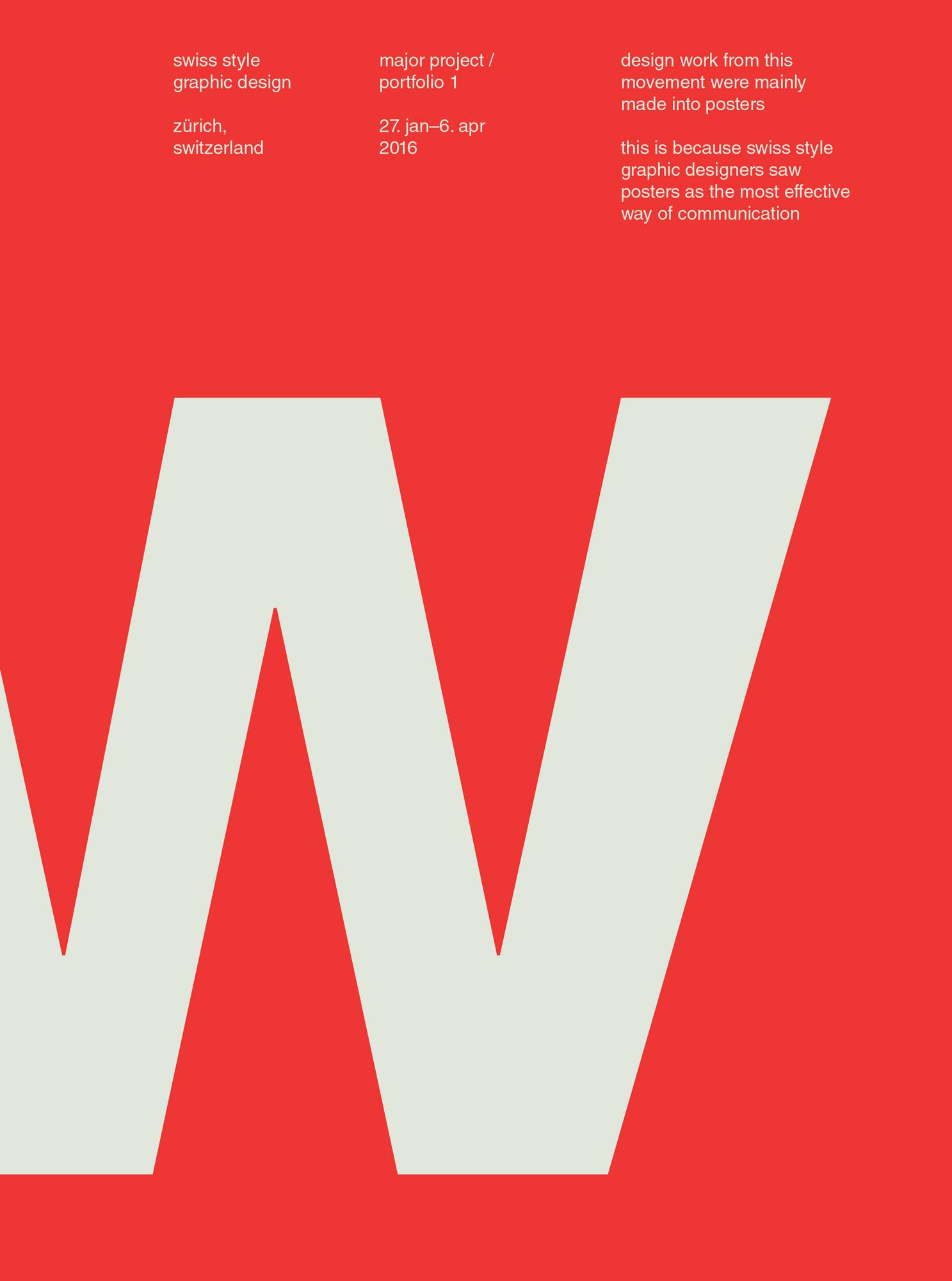 Swiss Style Posters – Keri Chau Design